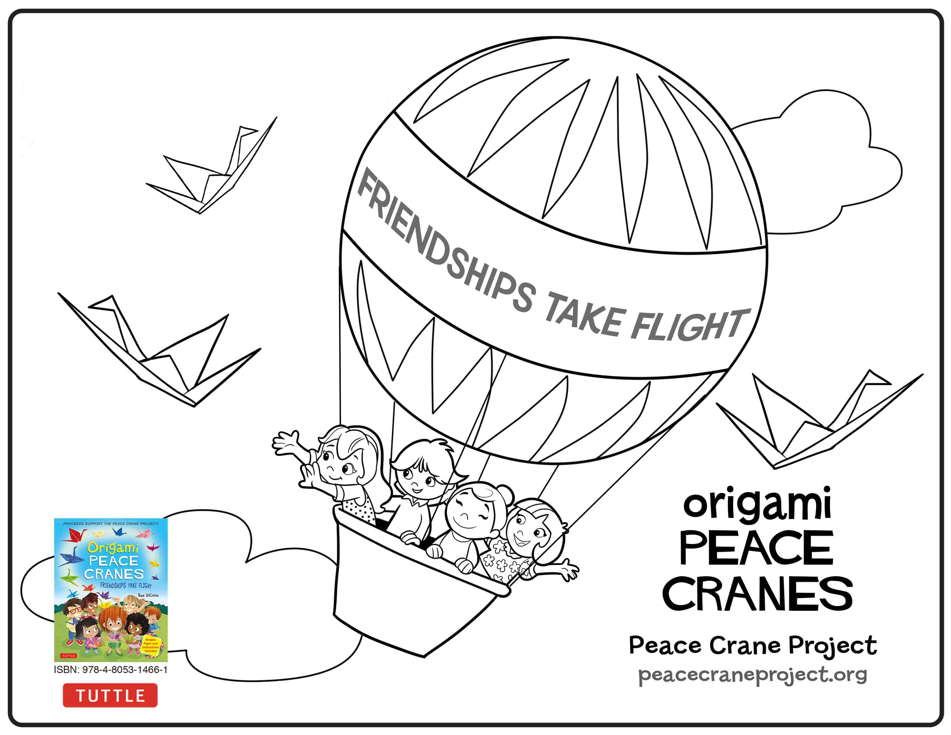 Coloring Pages Peace Crane Project